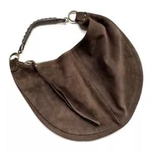 The Gap Large Brown Suede Hobo Slouch Bag